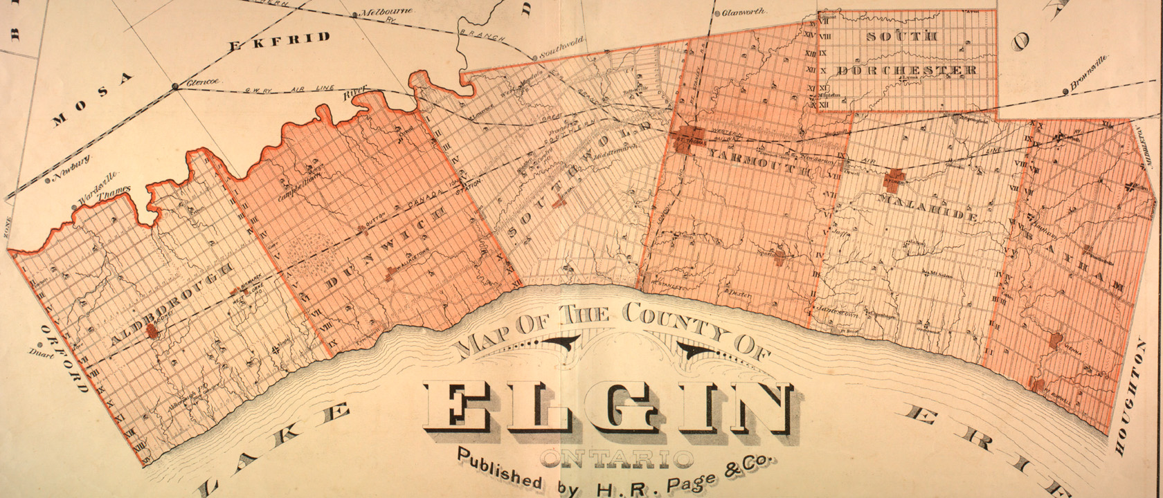 The Canadian County Atlas Digital Project Map of Elgin County