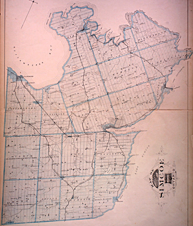 Simcoe County Maps The Canadian County Atlas Digital Project   Map of Simcoe County Simcoe County Maps