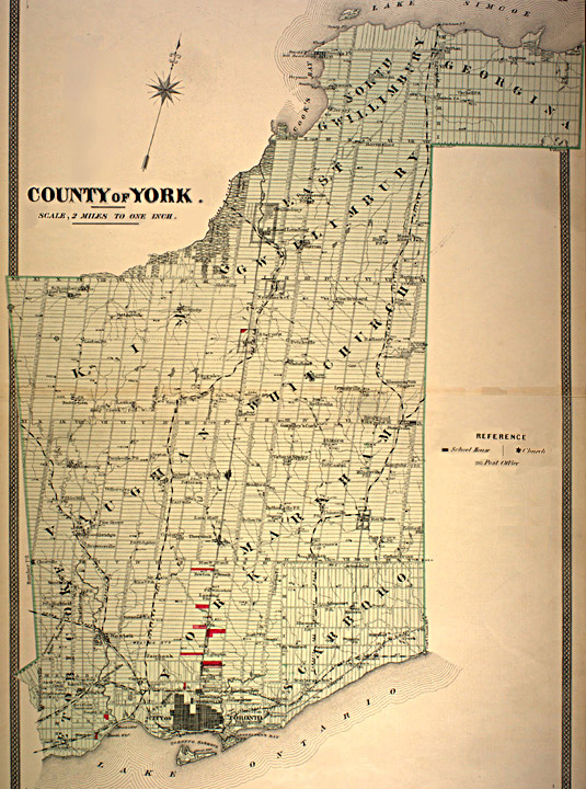 The Canadian County Atlas Digital Project Map of York County
